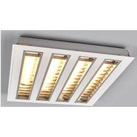 LED louvre troffer light w  four louvres  3 000 K