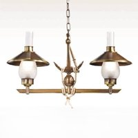 Grecale two bulb hanging light with anchor