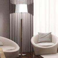 Aluminor Quatro Up floor lamp grey oak chrome