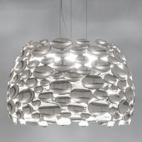 Nickel coloured Anish LED hanging light   63 cm
