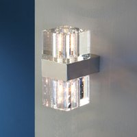 Cubic   a small wall light with clear glass