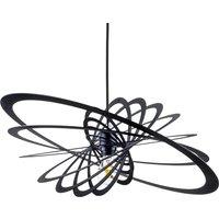 Planet pendant light  circular rings  black