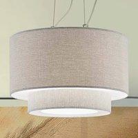Morfeo hanging light  fabric lampshade  cream
