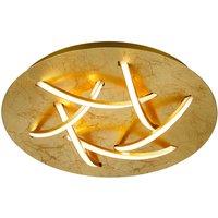 LED-Deckenleuchte Dolphin, gold, Ø 45 cm