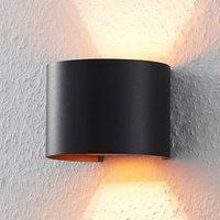 ELC J rdis wall lamp  G9  round  black