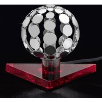 Sfera table lamp with red base  10 cm