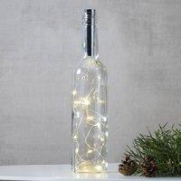 Lichterkette für Flaschen Dew Drops 75cm, silber