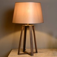 Coffee Lamp table lamp with brown fabric shade