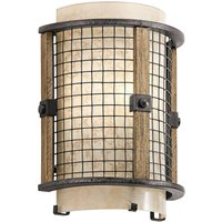 Rustic wall light Ahrendale