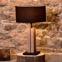 HerzBlut Dana table lamp natural oak black 56 cm
