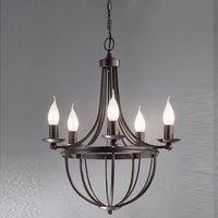 Five bulb chandelier AZIENDA