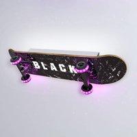 Easy Cruiser Black skateboard LED wall light