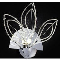 Girasole wall light with crystals  chrome