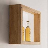 Window LED wall light  37 x 37 cm  oak wood