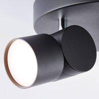 AEG Twine LED downlight  black  three bulb