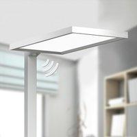 Silver LED office floor lamp Dorean