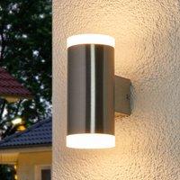 Image of 2-flammige LED-Außenwandleuchte Eliano, Edelstahl