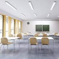 Siteco Taris LED ceiling light 123 cm DALI EB