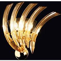 RONDO wall light  amber coloured Murano glass