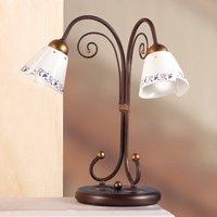 Elegant CARTOCCIO table lamp  2 bulb