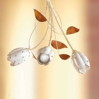 Floral TULIPANO hanging light  3 bulb