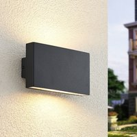 Ploski outdoor wall lamp  2 bulb  18 cm anthracite