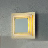 Wall and ceiling light Pages with gold leaf 22 cm