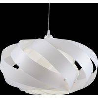 Striped hanging light Mini Nest  white