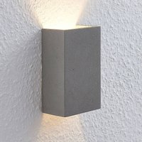 Lindby Albin LED wall light made of concrete