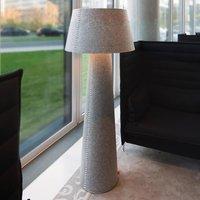 Imposing LED floor lamp Alice XL  grey felt