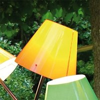 Orange lampshade for outdoor light Octopus Outdoor