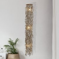 Coconut hanging light made of real coconut  180 cm