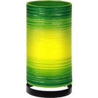 Julie table lamp wrapped in threads  green
