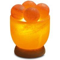 Salt crystal bowl with massage balls  round