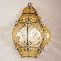 Classic   handmade wall lamp in amber