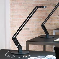 Luctra TableProRadial LED table lamp black base
