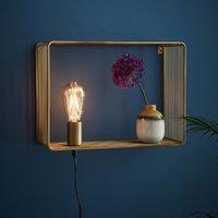 Shelf wall light  gold