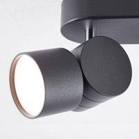 AEG Twine LED downlight  black  two bulb