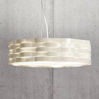 Ivory coloured hanging lamp Flutti  sheet steel