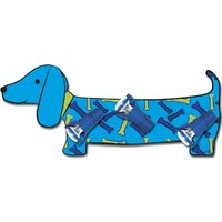 Blue Bello wall light in sausage dog shape