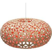 david trubridge Snowflake hanging  80cm bamboo red