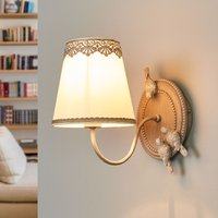 Bouquet   wall lamp with cute lace finish