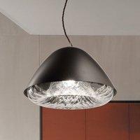 Kira SP P pendant lamp E27 crystal glass black
