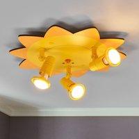 Amusing Sun ceiling light with 3 bulbs