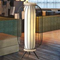 Chaplin floor lamp made of steel mesh