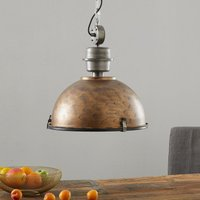 Copper brown Bikkel hanging light  industrial look