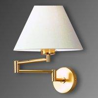Pivotable wall light Livas  polished brass