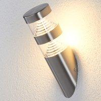 LED-Edelstahl-Außenwandleuchte Lanea schräg