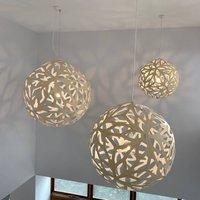 david trubridge Floral hanging lamp   80cm natural