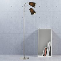 Two bulb floor lamp Lelio with flexible arms
